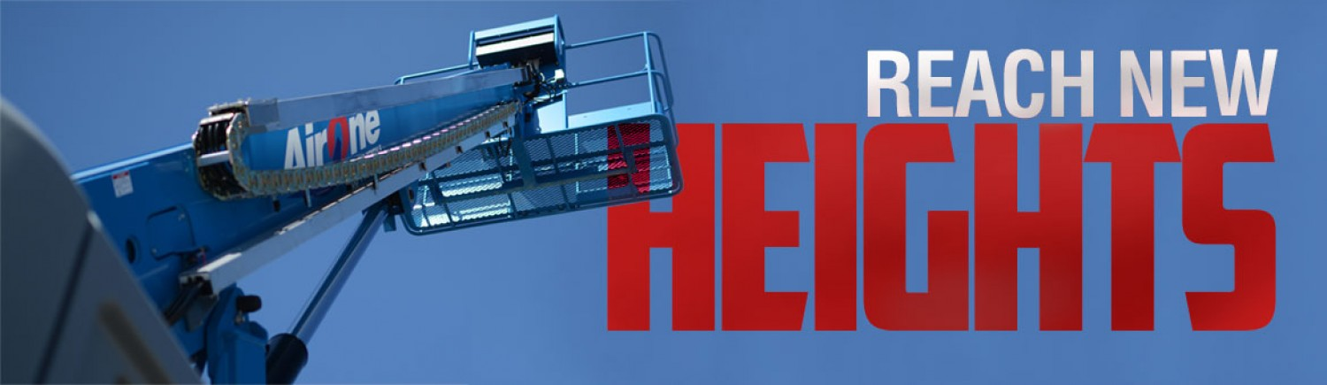 Reach new heights with our aerial equipment