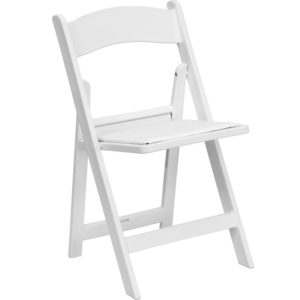 White Resin Folding Chairr